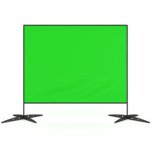 press wall green screen model