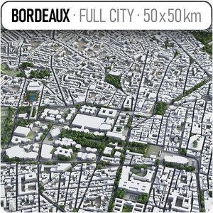 bordeaux surrounding area - 3D model