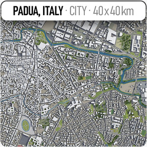padua surrounding area - 3D model