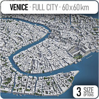 3D model venice surrounding area -