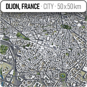 3D dijon surrounding area -