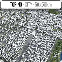 torino surrounding area - 3D model