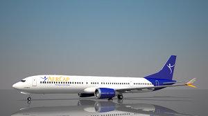 3D aercap boeing 737 10 model