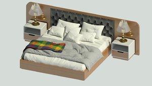 king bed 3D model