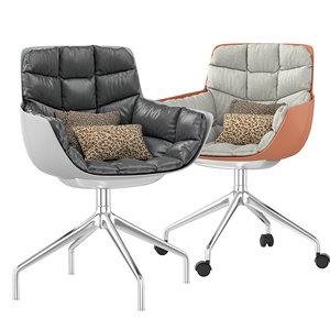 husk chair metal model