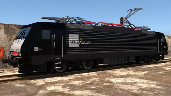 locomotive train railroad 3D