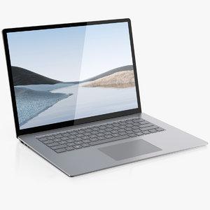 microsoft surface laptop 3 3D