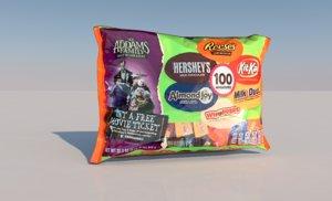 3D candy bag model