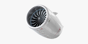 3D model comac engine