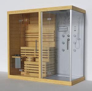 3D finnish sauna