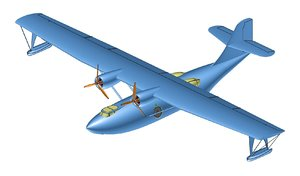 3D model consolidated pby catalina solid