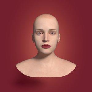 3D woman head