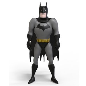 batman cartoon 3D model