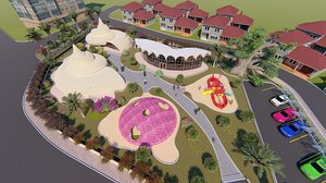 3D model revit children playground