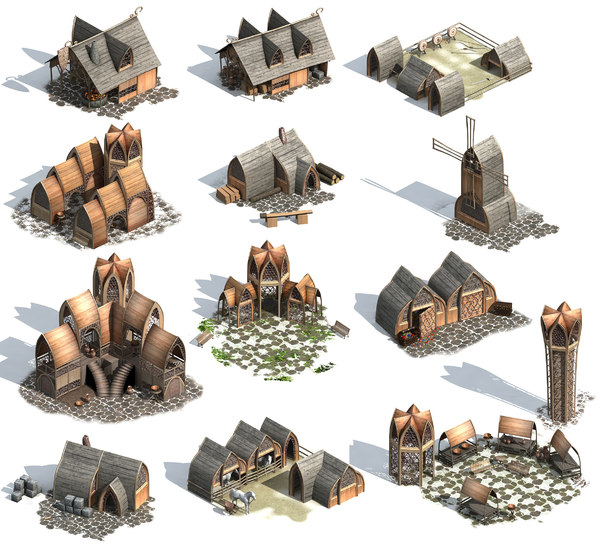 elves buildings 3D model