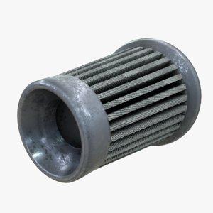 3D engine air filter model