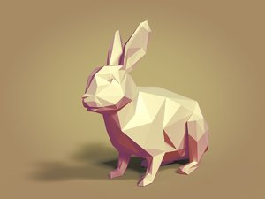 3D cartoon rabbit model