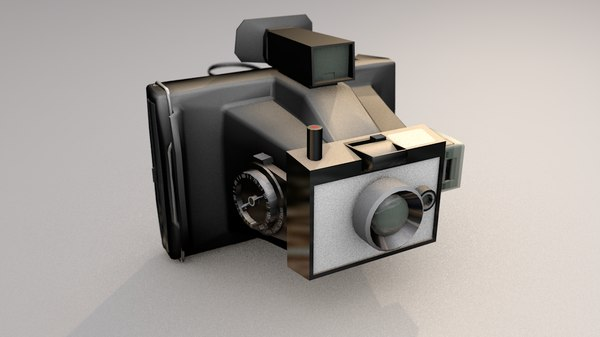 polaroid color pack photo camera 3D model