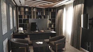 office furniture interior 3D
