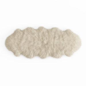 3D wool fluffy decorative carpet