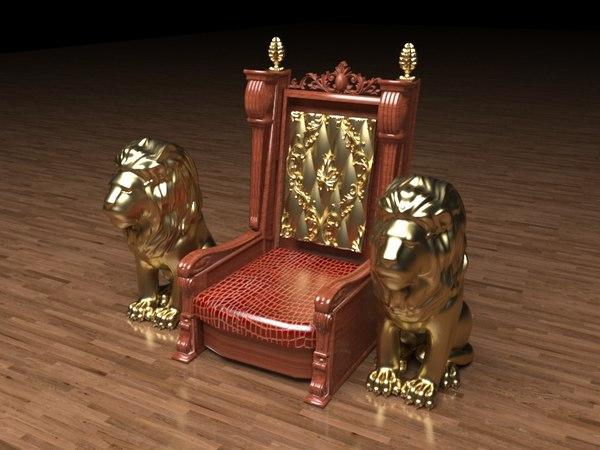 3D king throne 3