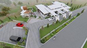 3D villa modern model