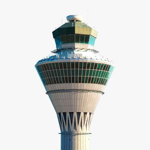kuala lumpur air control tower 3D model