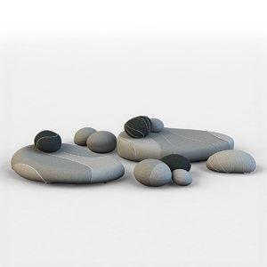pillows stones 3D model