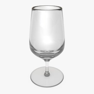 3D glass cup model