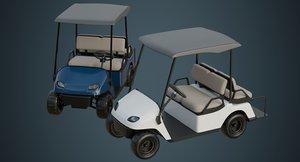 golf cart 1a 3D model