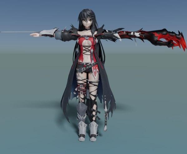 anime velvet 3D model
