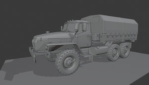 heavy truck army 3D model