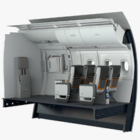 3D premium economy exit section