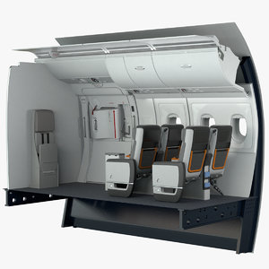 3D premium economy exit section