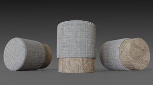 3D model homemade puf cylinder