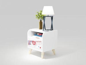 bedside cupboard 3D