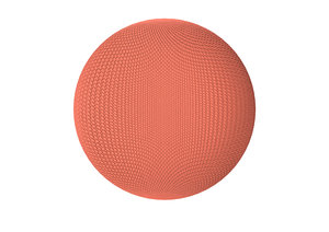 3D google home mini red model