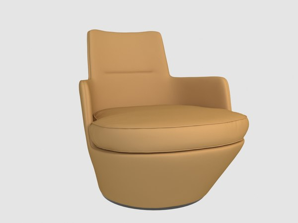 3D lo turn lounge chair model