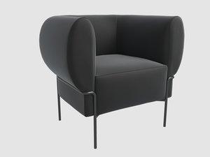 madda lounge chair michael 3D model