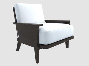 christian liaigre artimon chair 3D model