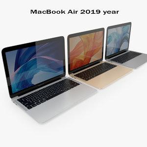 3D model macbook air