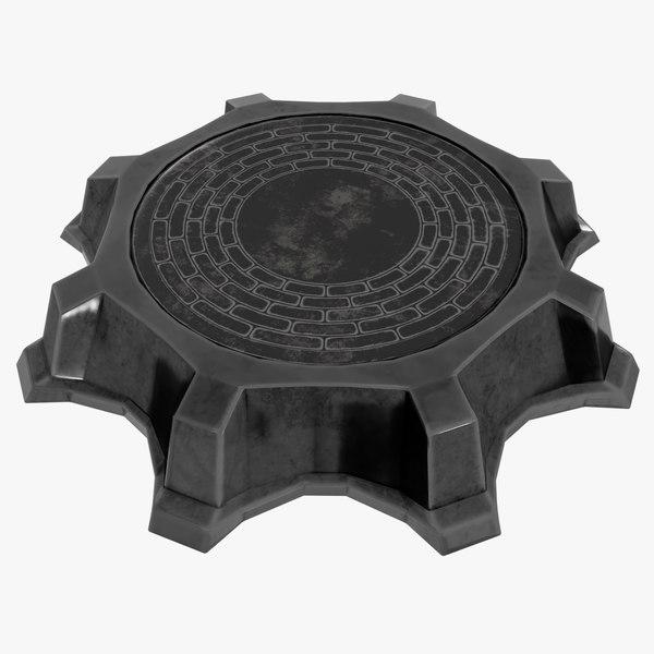 3D pedestal games blender model