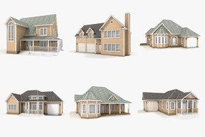 hi-poly cottages vol 14 3D