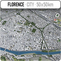 3D florence surrounding area -