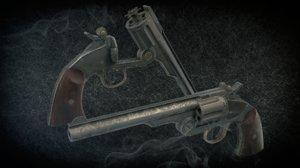 3D schofield revolver model