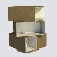 Bookcase- 3D Revit