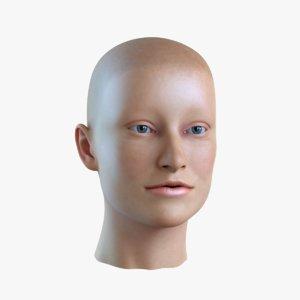 female head 3D