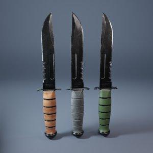 3D model knife weapon
