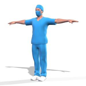 male nurse doctor dr 3D model