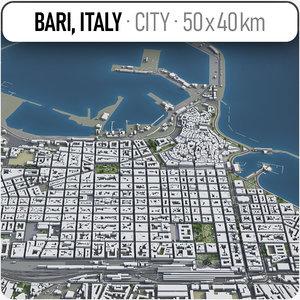 3D bari surrounding area -